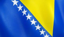 Flagge 3D von Bosnien Herzegovina vektor abbildung