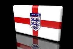 Flagge 3D von England mit dem Wappen vektor abbildung