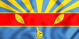 Flagge 3D von Harare, Simbabwe Stockfoto