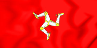 Flagge 3D von Isle of Man Stockfoto