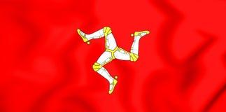 Flagge 3D von Isle of Man Stockfoto