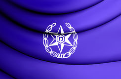 Flagge 3D von Israel Police Lizenzfreies Stockfoto