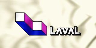 Flagge 3D von Laval City, Kanada Lizenzfreies Stockfoto