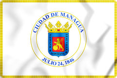Flagge 3D von Managua, Nicaragua Stockfoto