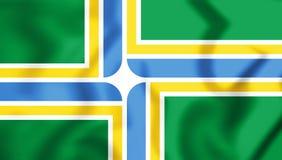 Flagge 3D von Portland Oregon, USA Lizenzfreie Stockfotos