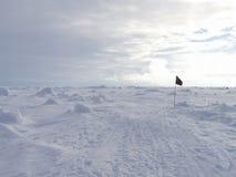 Flagge in der Antarktis lizenzfreies stockbild