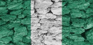 Flagge der Beschaffenheit Nigeria lizenzfreies stockfoto