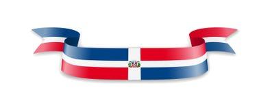Flagge der Dominikanischen Republik in Form von Wellenband vektor abbildung