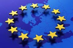 Flagge der Europäischen Gemeinschaft Stockbilder