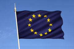 Flagge der Europäischen Gemeinschaft Lizenzfreie Stockfotografie