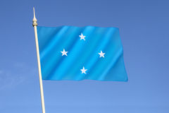 Flagge der Federated States of Micronesia Lizenzfreie Stockbilder