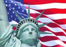 Flagge der Freiheit Stockbild
