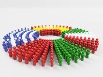 Flagge der Illustrations-3D von SCHWEINEN, Portugal-Front Stockfotografie