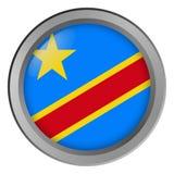 Flagge der der Kongo-Runde als Knopf stock abbildung