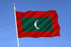 Flagge der Malediven - der Indische Ozean Lizenzfreie Stockfotos