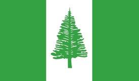 Flagge der Norfolk-Inselikonenillustration Stockfotografie