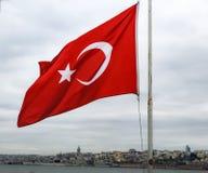 Flagge der Republik Türkei Lizenzfreies Stockfoto