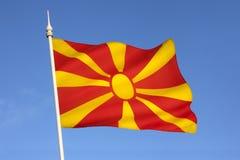 Flagge der Republiks Mazedonien - des Europas stockfotos