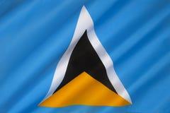 Flagge der St. Lucia - Karibisches Meer Lizenzfreie Stockbilder