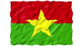 Flagge der Tapeten-Animation Burkina Faso s 3D stock video footage