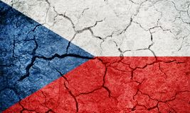 Flagge der Tschechischen Republik Stockfotografie