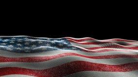 Flagge der Vereinigten Staaten von Amerika stock video