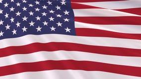 Flagge der Vereinigten Staaten von Amerika, die im Wind, Illustration 3d flattern stock video footage