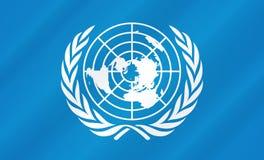 Flagge der Vereinten Nationen lizenzfreie abbildung