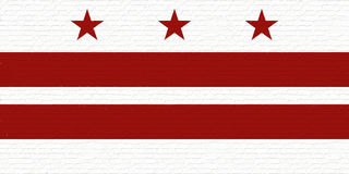 Flagge der Washington DC-Wand Stockfoto