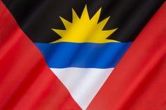 Flagge des Antigua und Barbuda - Karibisches Meer Lizenzfreies Stockfoto