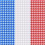 Flagge des Frankreichs gemacht von LED. Stockbilder
