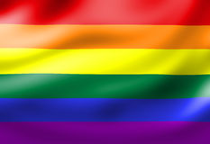 Flagge des homosexuellen Stolzes Stockfotos