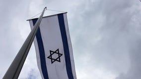 Flagge des israelischen Staats stock video footage