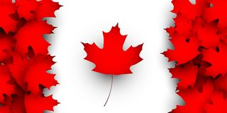 Flagge des Kanada-Konzeptes des Entwurfes Lizenzfreies Stockbild
