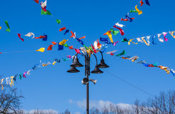Flagge des Karnevals Lizenzfreie Stockbilder