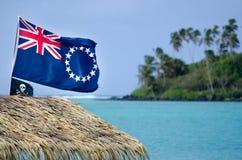Flagge des Kochs Islands stockbilder