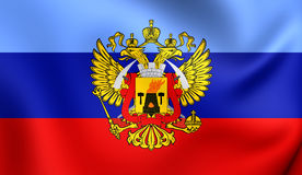 Flagge des Lugansk People& x27; s-Republik Stockfotos