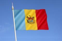 Flagge des Moldovia Stockbild