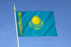 Flagge des Republik Kasachstan Stockbild