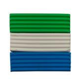 Flagge des Sierra Leone vom Plasticine Lizenzfreies Stockbild
