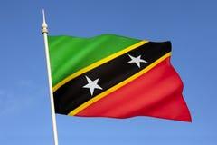 Flagge des St. Kitts und Nevis - das Karibische Meer Lizenzfreie Stockbilder