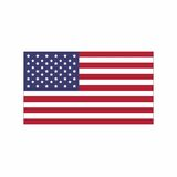 Flagge des vereinigten Staates von Amerika Stockbild