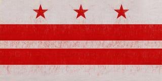 Flagge des Washington DC-Schmutzes Lizenzfreie Stockfotografie