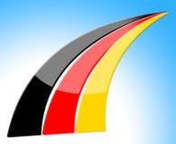 Flagge Deutschland stellt Nation Deutch und Nationalität dar Lizenzfreies Stockbild