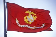 Flagge für US Marine Corps Stockfotos