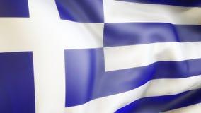 Flagge, Griechenland, Flagge von Griechenland aufgebend, Illustration Lizenzfreie Stockfotografie