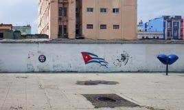 Flagge Kuba auf der Wand stockfoto