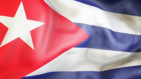 Flagge, Kuba, Flagge von Kuba aufgebend Lizenzfreies Stockbild