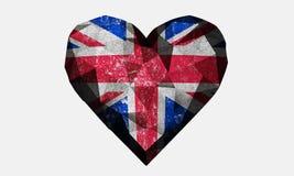 Flagge Liebesherz-Vereinigten Königreichs Lizenzfreie Stockbilder