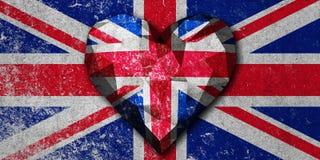 Flagge Liebesherz-Vereinigten Königreichs Stockbilder